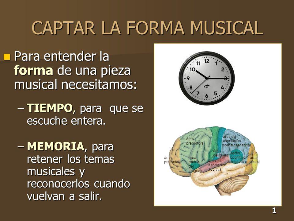CAPTAR LA FORMA MUSICAL