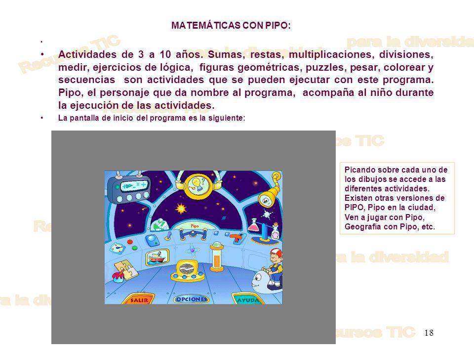 MATEMÁTICAS CON PIPO: