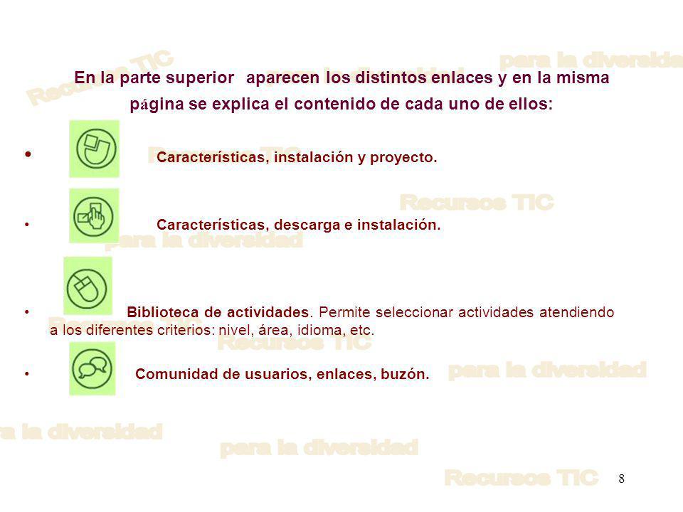 Características, instalación y proyecto.