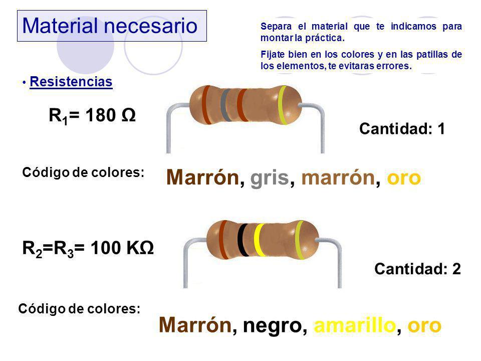 Marrón, negro, amarillo, oro