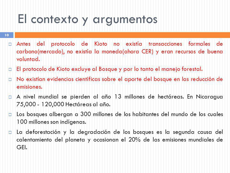 El contexto y argumentos