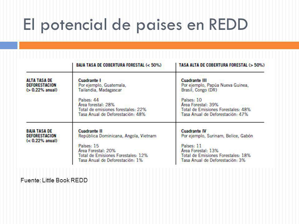 El potencial de paises en REDD