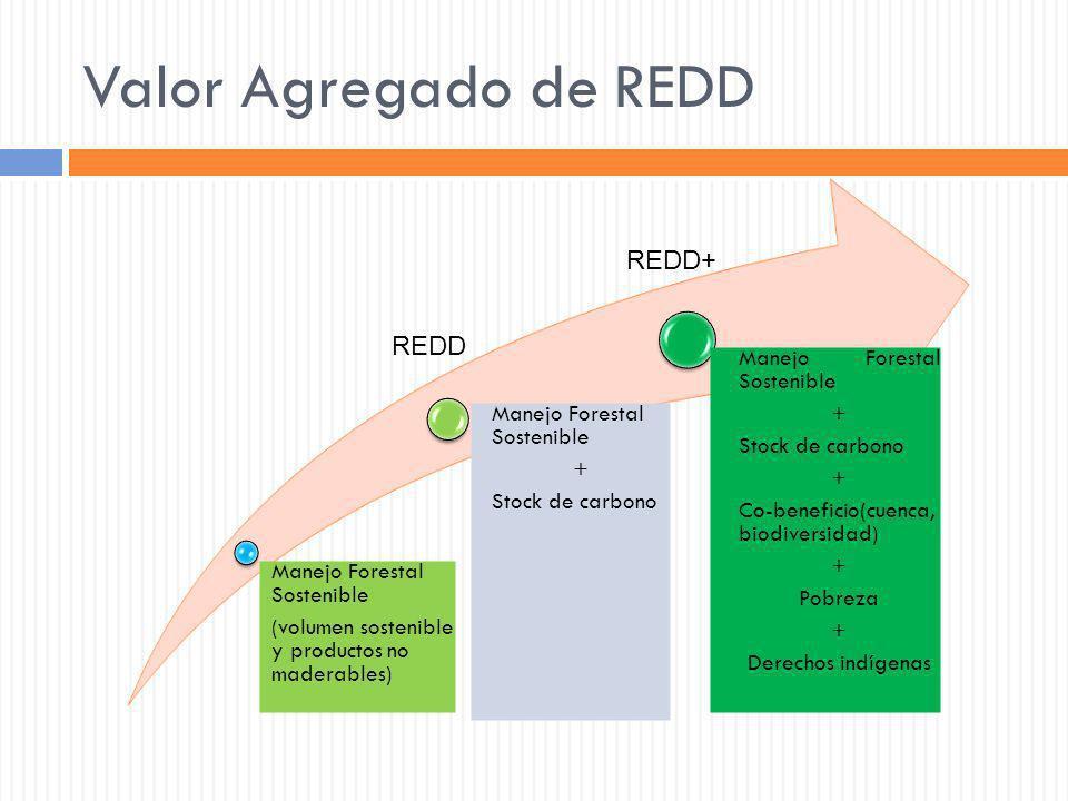 Valor Agregado de REDD REDD+ REDD