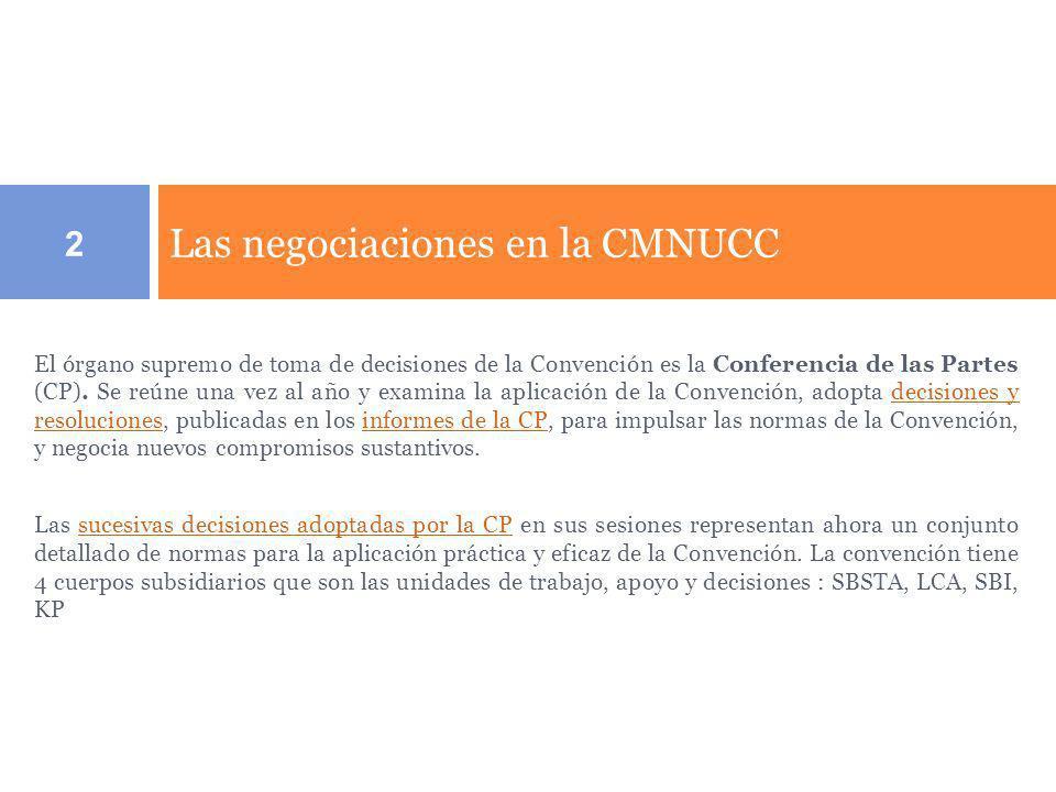 Las negociaciones en la CMNUCC