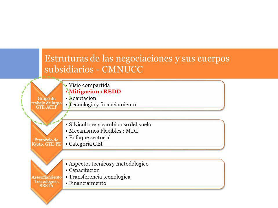 Estruturas de las negociaciones y sus cuerpos subsidiarios - CMNUCC