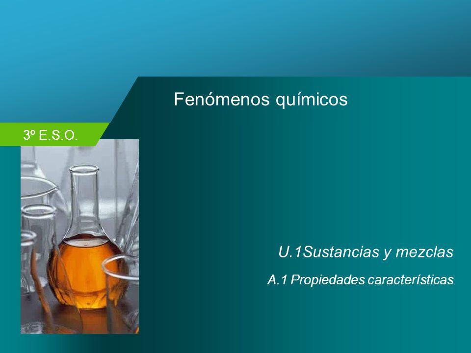 Fenómenos químicos U.1Sustancias y mezclas