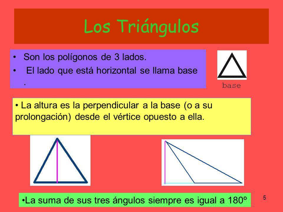 Los Triángulos Son los polígonos de 3 lados.