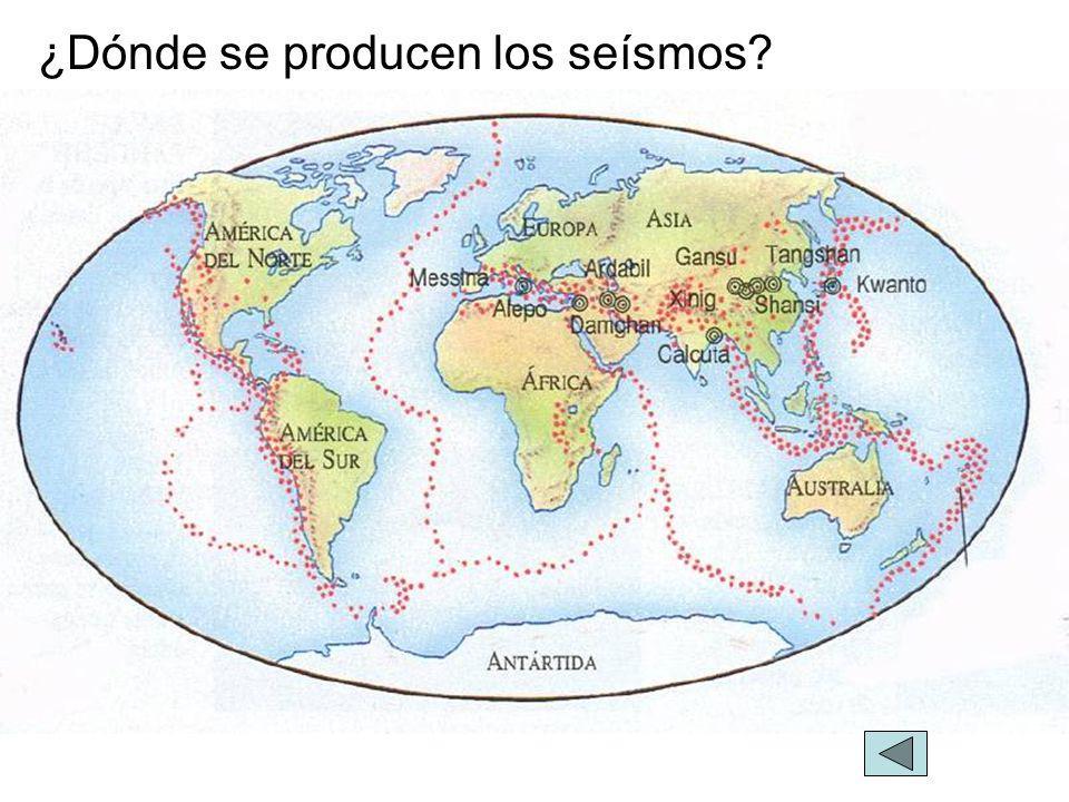¿Dónde se producen los seísmos