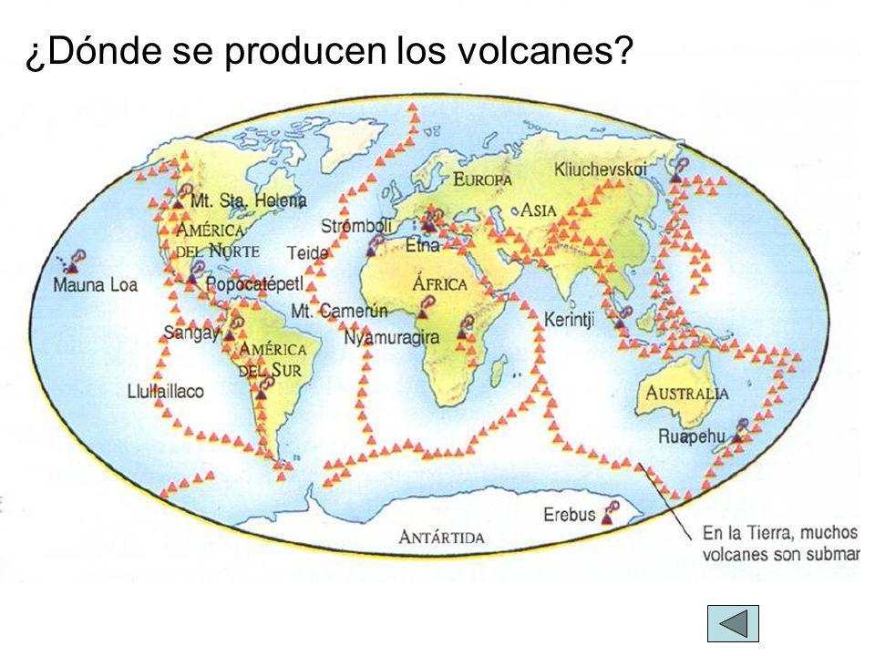 ¿Dónde se producen los volcanes