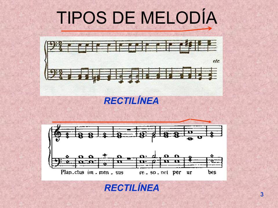 TIPOS DE MELODÍA RECTILÍNEA RECTILÍNEA