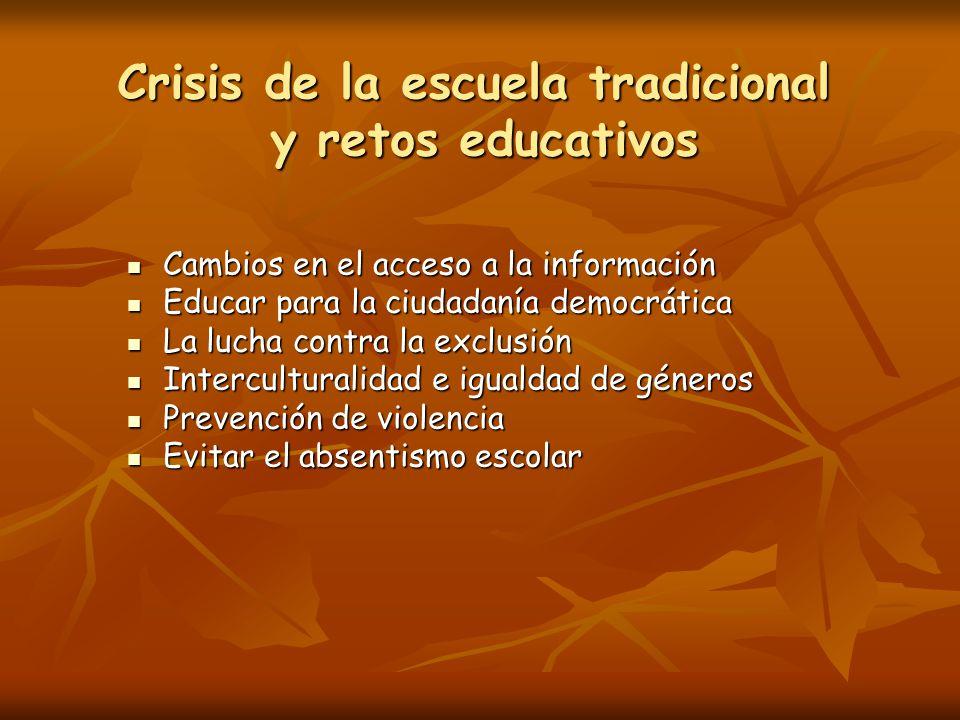 Crisis de la escuela tradicional y retos educativos