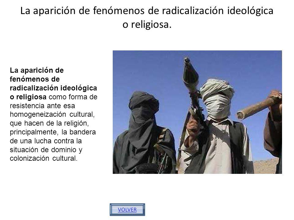 La aparición de fenómenos de radicalización ideológica o religiosa.