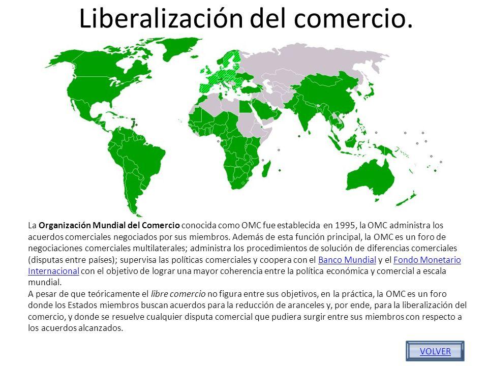 Liberalización del comercio.
