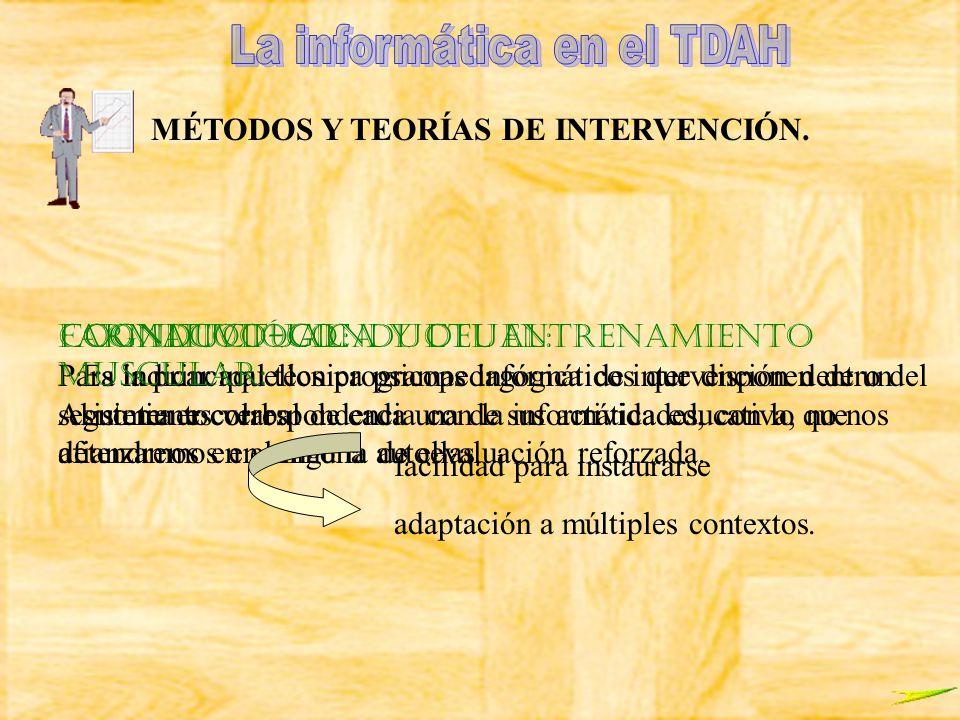 MÉTODOS Y TEORÍAS DE INTERVENCIÓN.