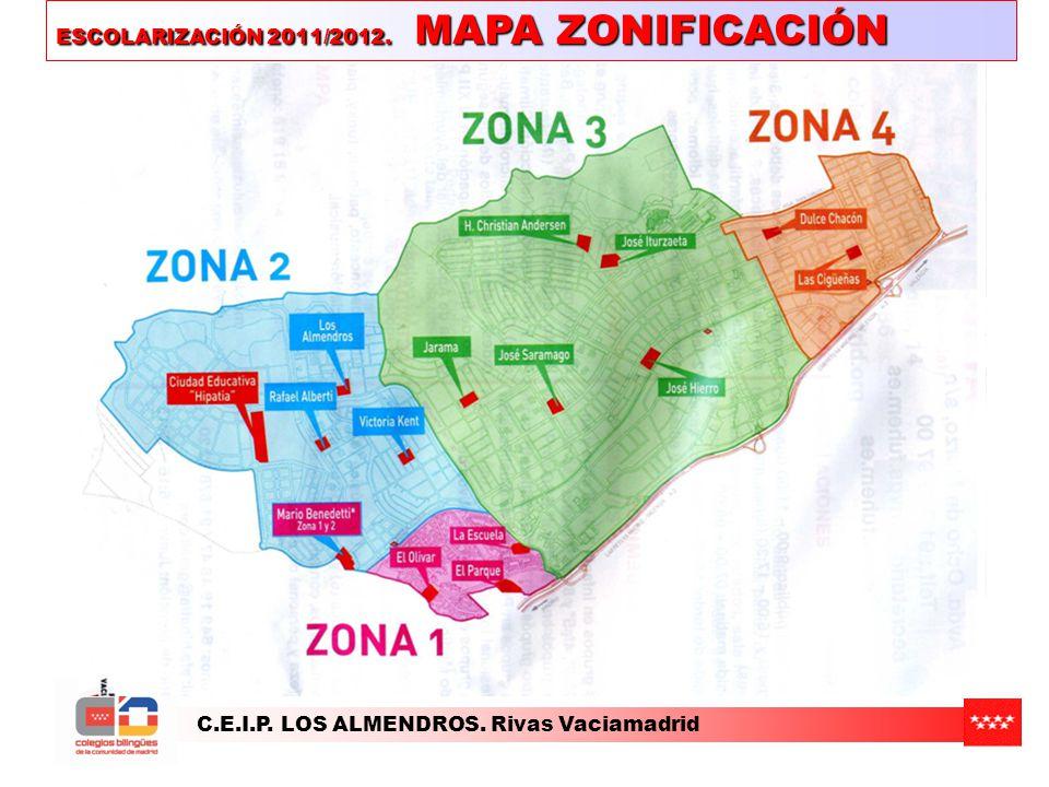 ESCOLARIZACIÓN 2011/2012. MAPA ZONIFICACIÓN