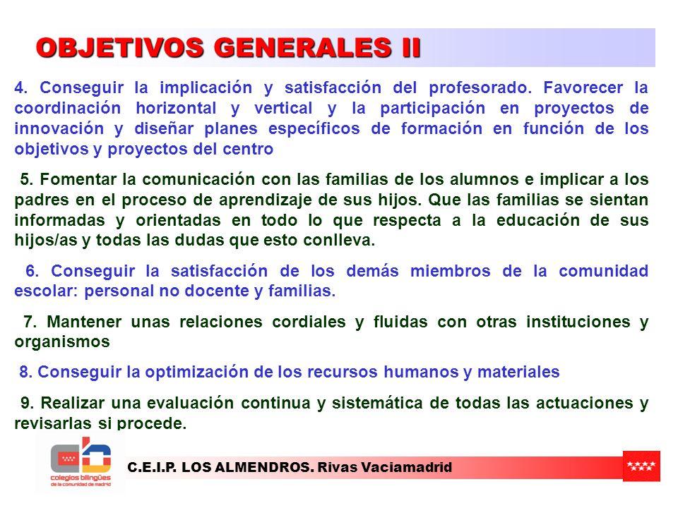 OBJETIVOS GENERALES II