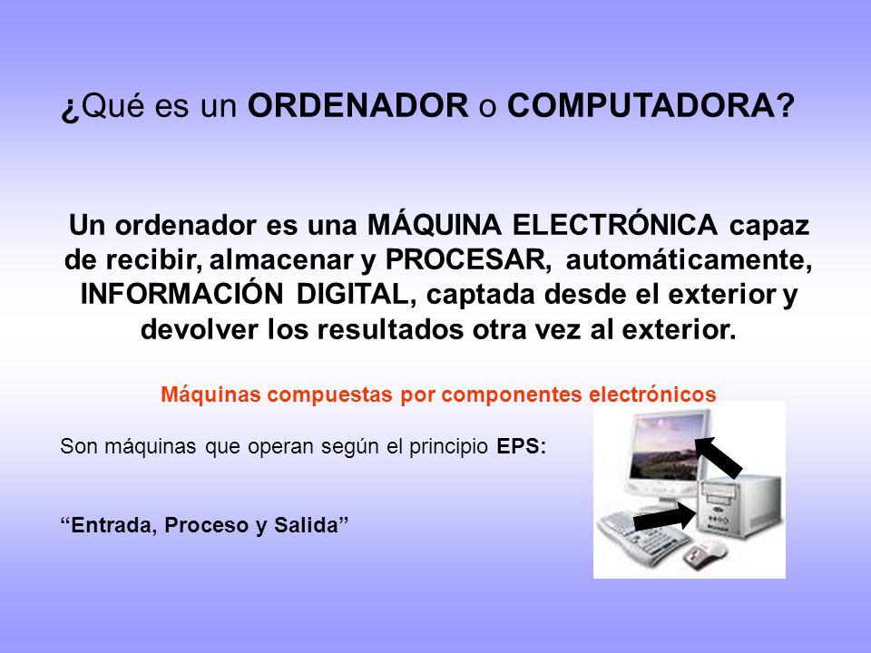 Máquinas compuestas por componentes electrónicos