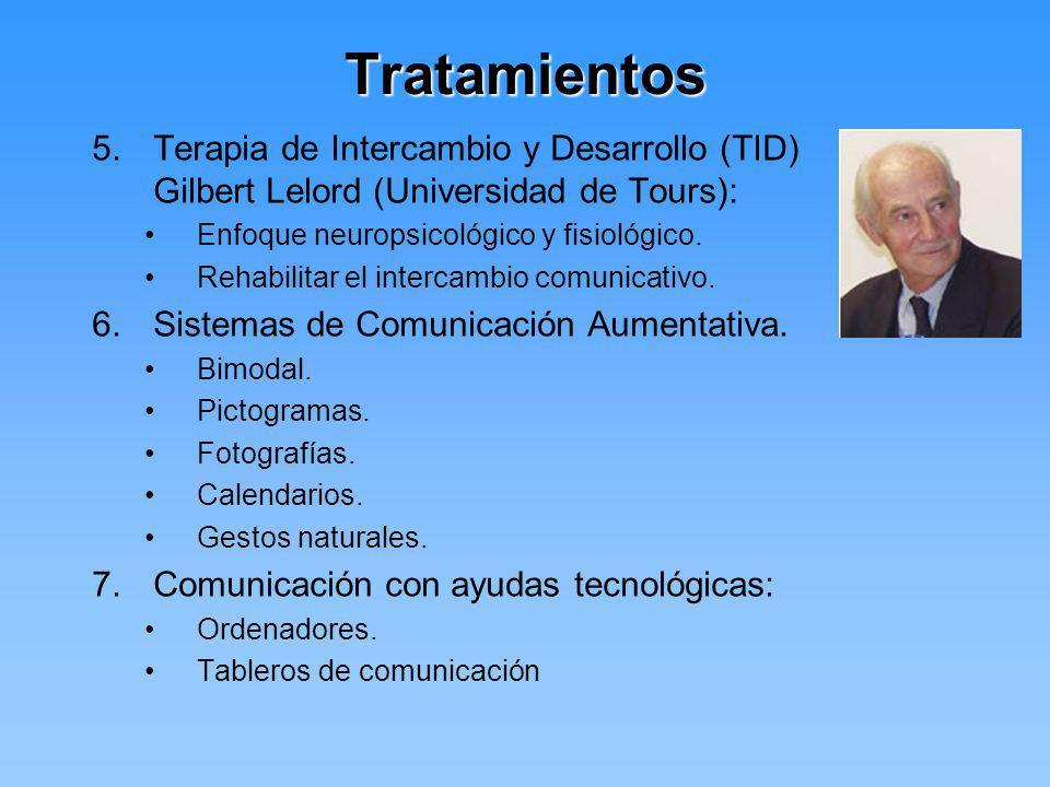 Tratamientos Terapia de Intercambio y Desarrollo (TID) Gilbert Lelord (Universidad de Tours): Enfoque neuropsicológico y fisiológico.