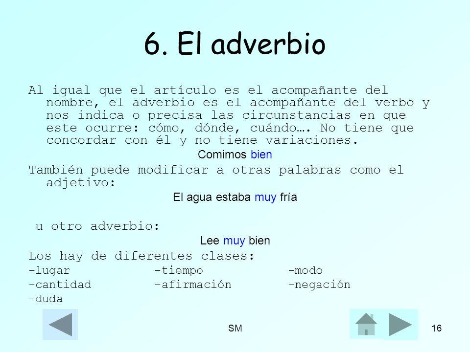 6. El adverbio