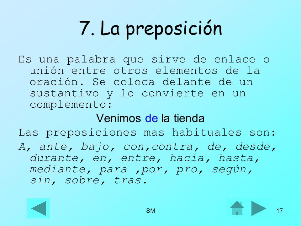 7. La preposición
