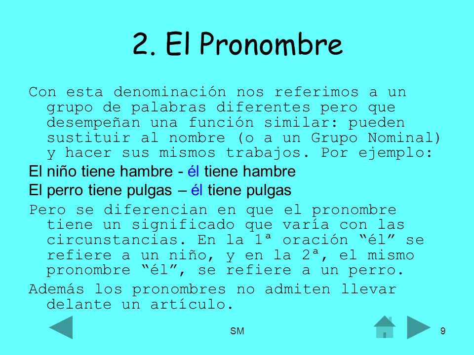 2. El Pronombre