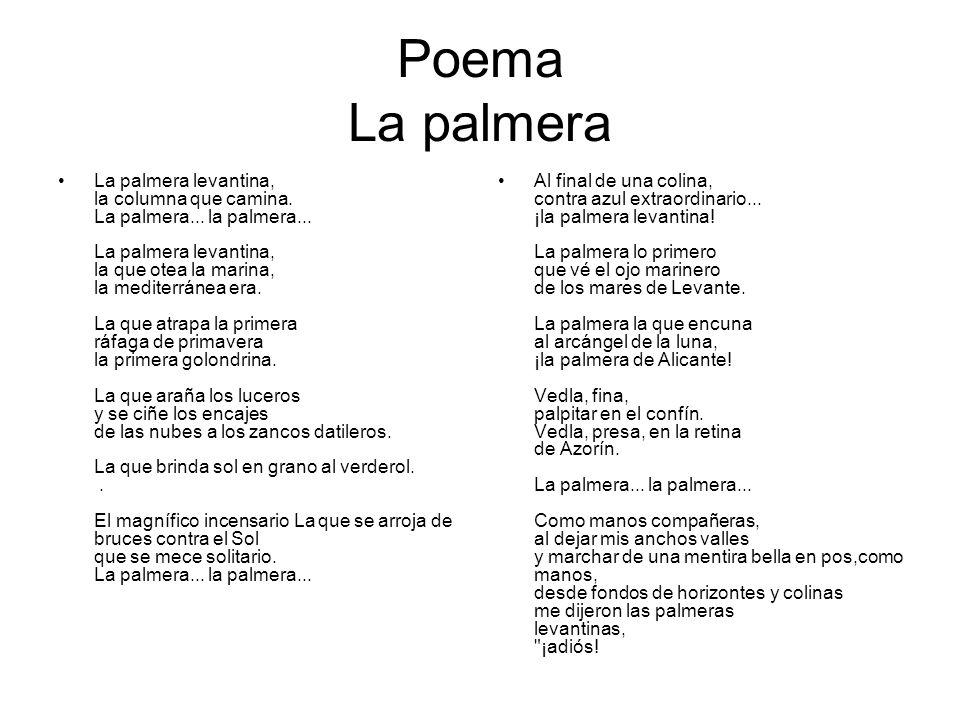 Poema La palmera