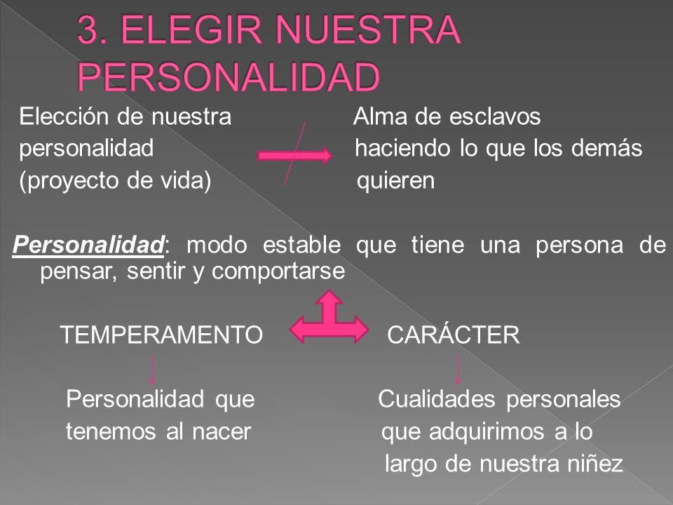 3. ELEGIR NUESTRA PERSONALIDAD