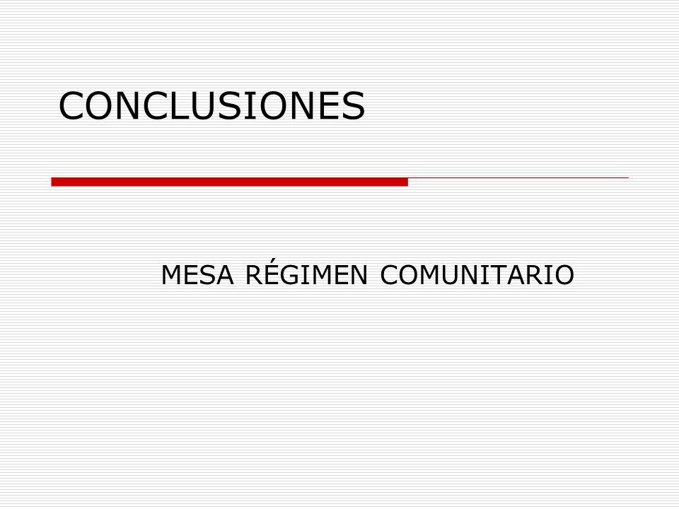 MESA RÉGIMEN COMUNITARIO