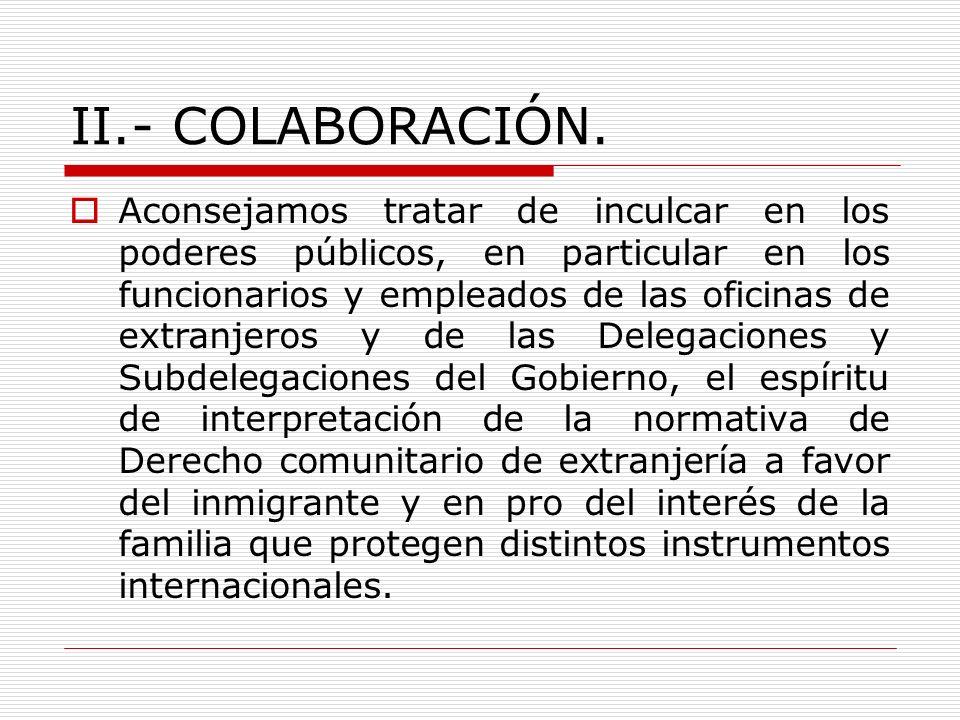 II.- COLABORACIÓN.