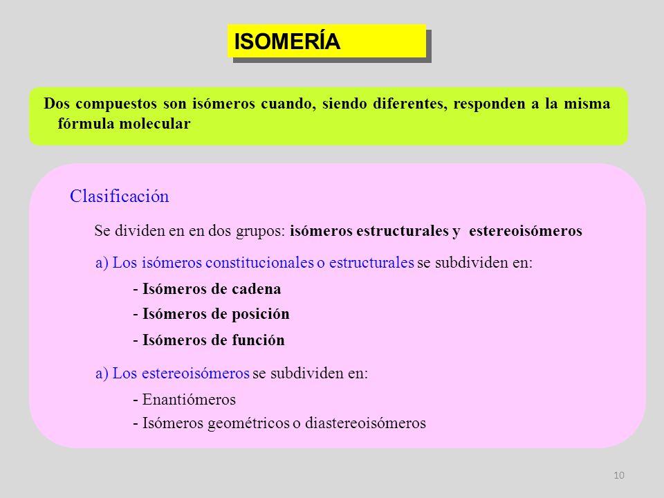 ISOMERÍA Clasificación
