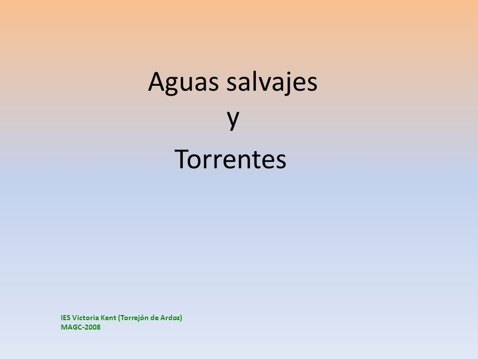 Aguas salvajes y Torrentes IES Victoria Kent (Torrejón de Ardoz)
