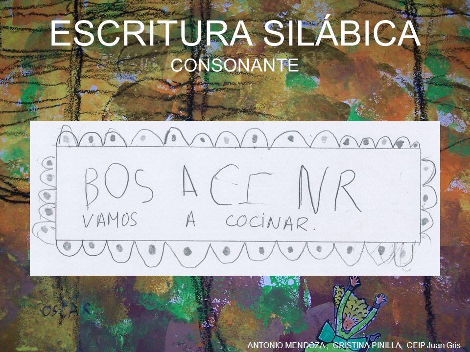 ESCRITURA SILÁBICA CONSONANTE