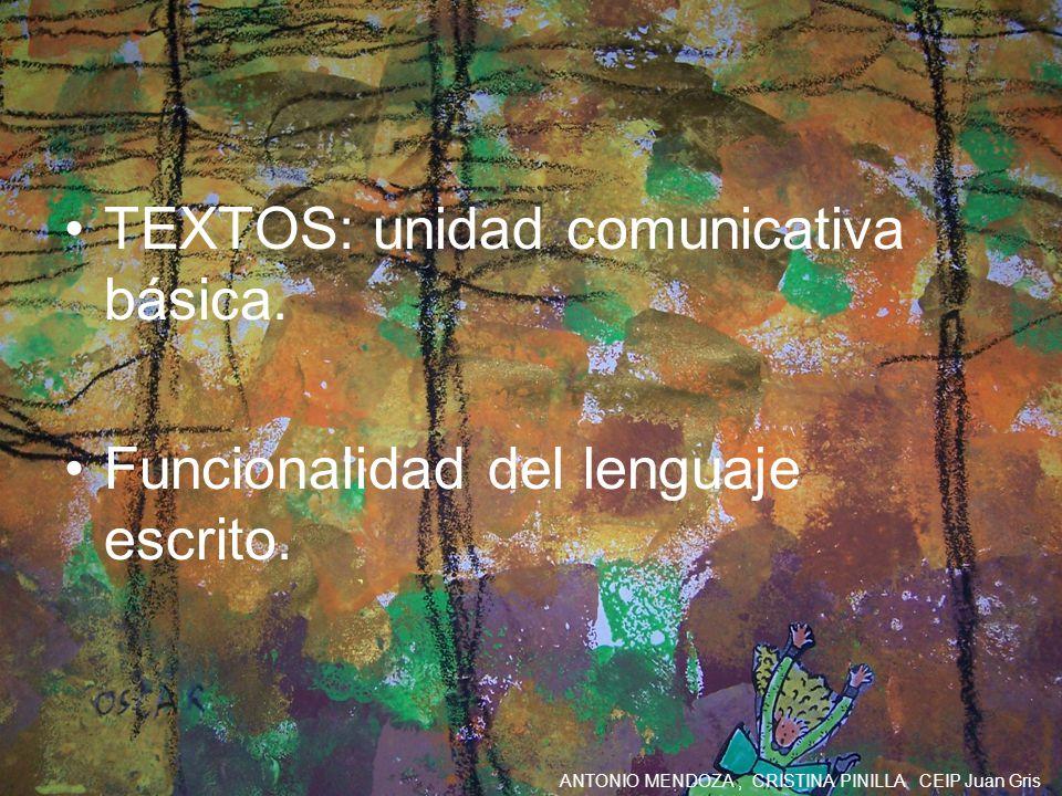 TEXTOS: unidad comunicativa básica.