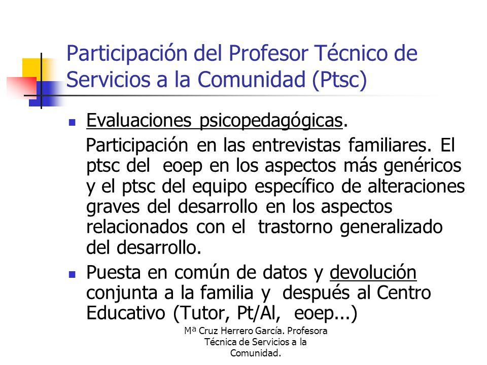 Participación del Profesor Técnico de Servicios a la Comunidad (Ptsc)