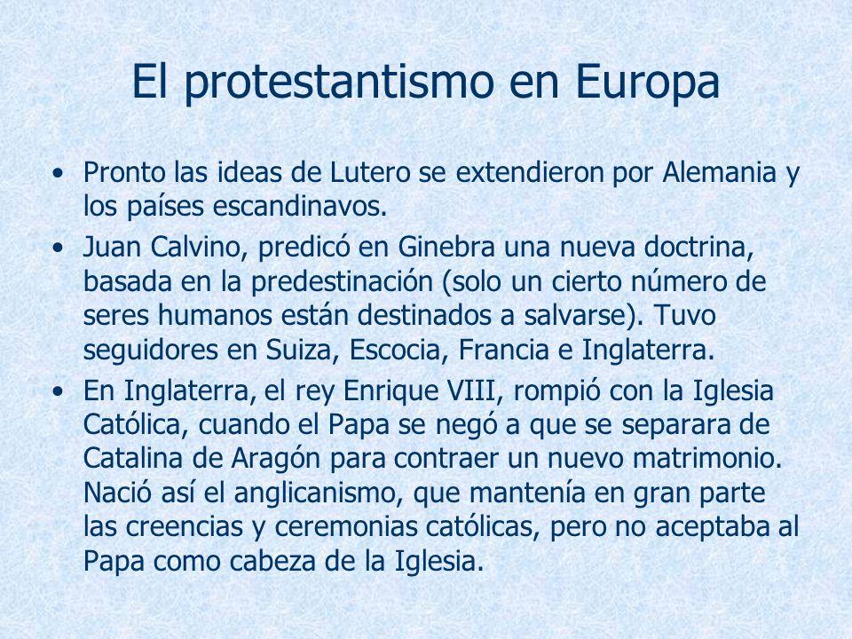El protestantismo en Europa