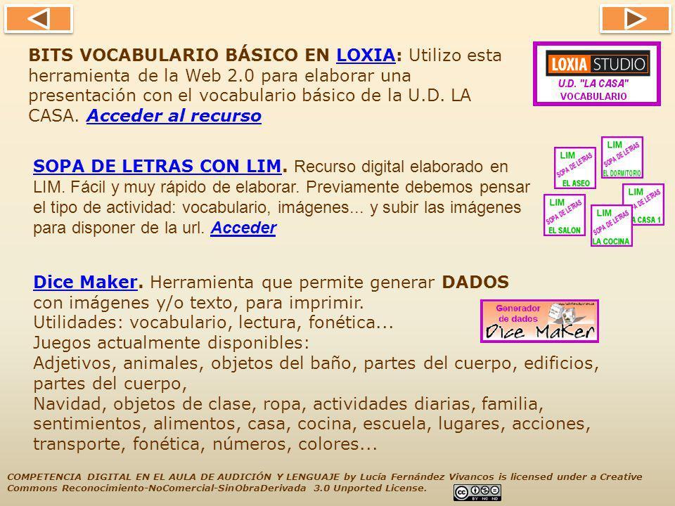 BITS VOCABULARIO BÁSICO EN LOXIA: Utilizo esta herramienta de la Web 2
