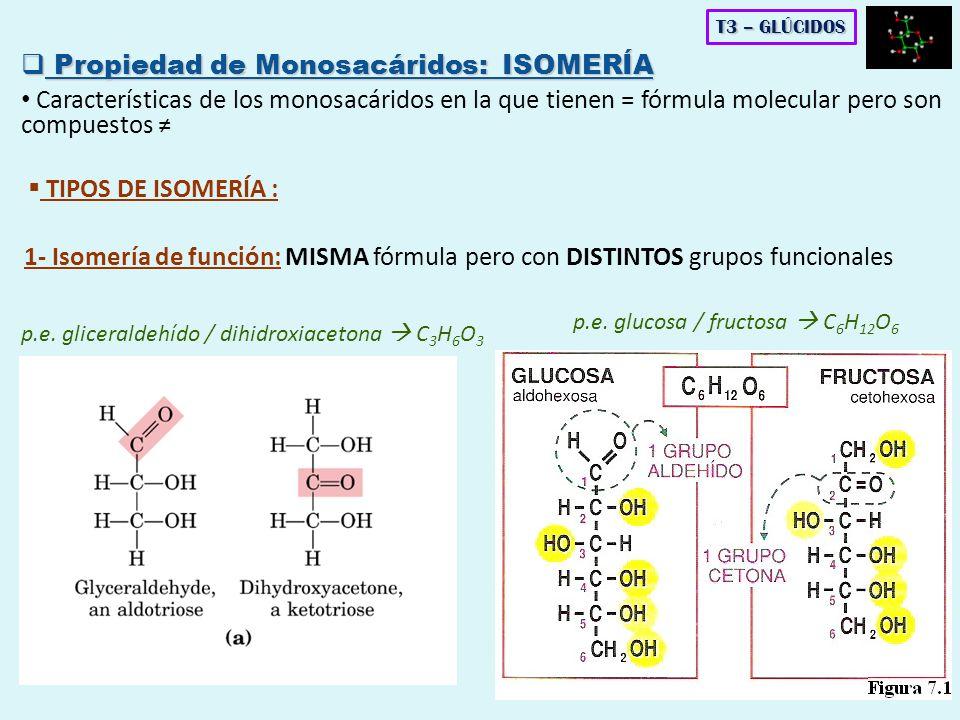 Propiedad de Monosacáridos: ISOMERÍA