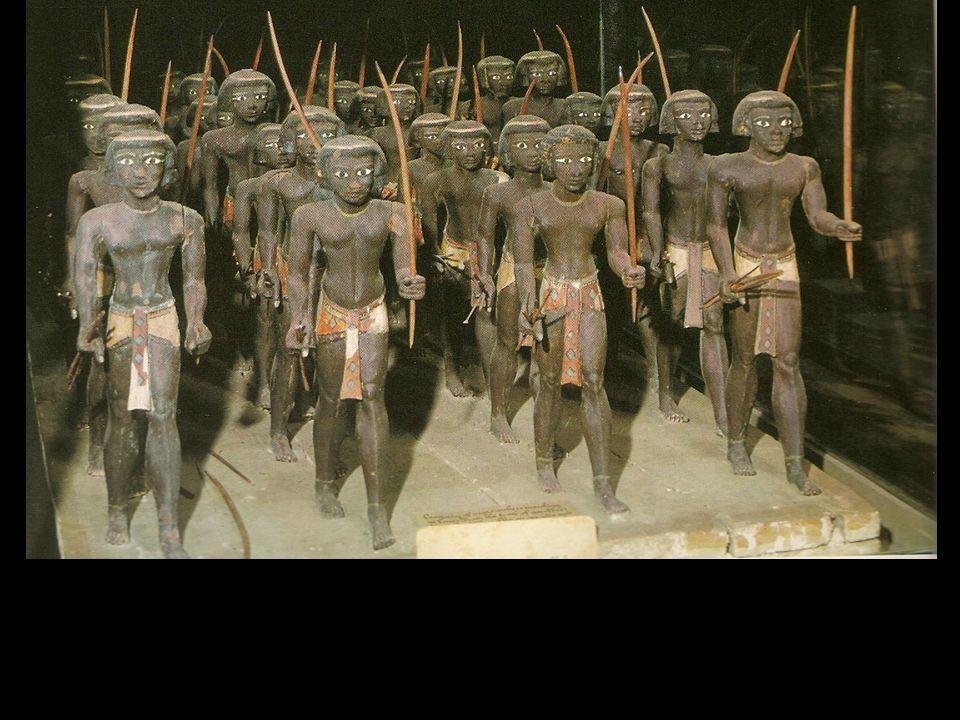 Soldados nubios al servicio del príncipe Mesehti. Imperio Medio
