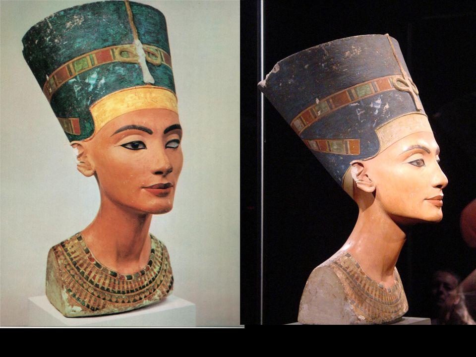 Busto de Nefertiti. Imperio Nuevo. Tell- el-Amarna. Dinastía XVIII