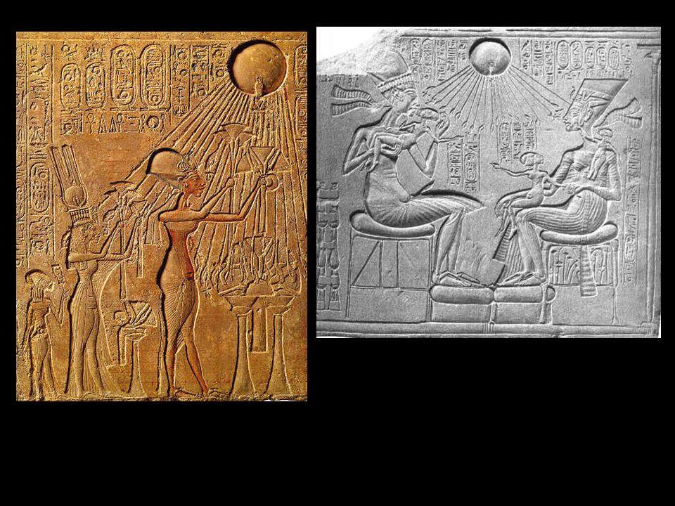 Akenatón y su familia ofreciendo un sacrificio al dios solar Atón