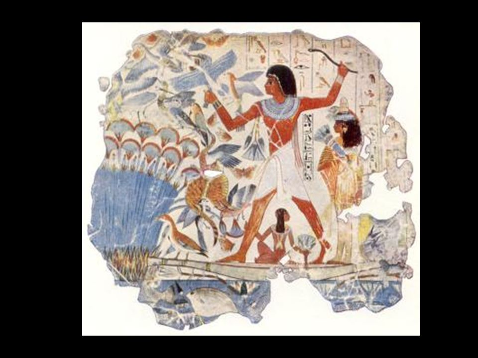 Escena de caza en los pantanos. Tumba de Nebamon. Imperio Nuevo