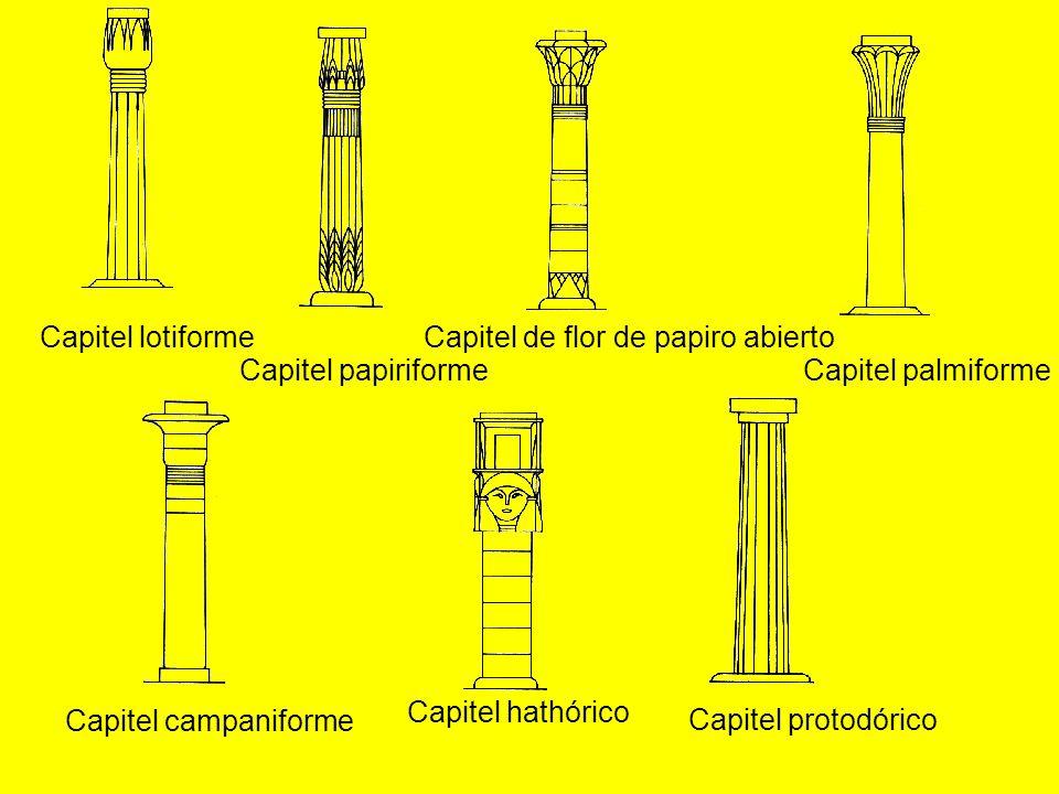 Capitel de flor de papiro abierto Capitel papiriforme