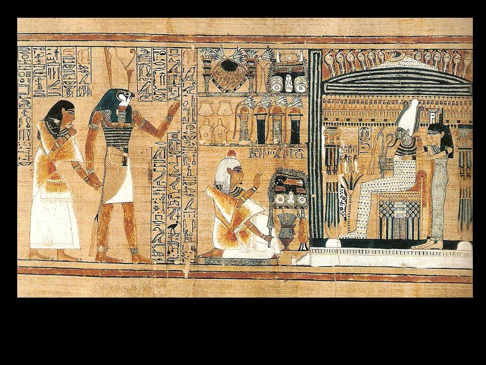 Horus conduce a Ani hasta Osiris, según el Libro de los Muertos. Tebas