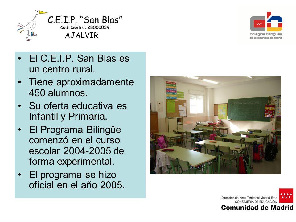 El C.E.I.P. San Blas es un centro rural.