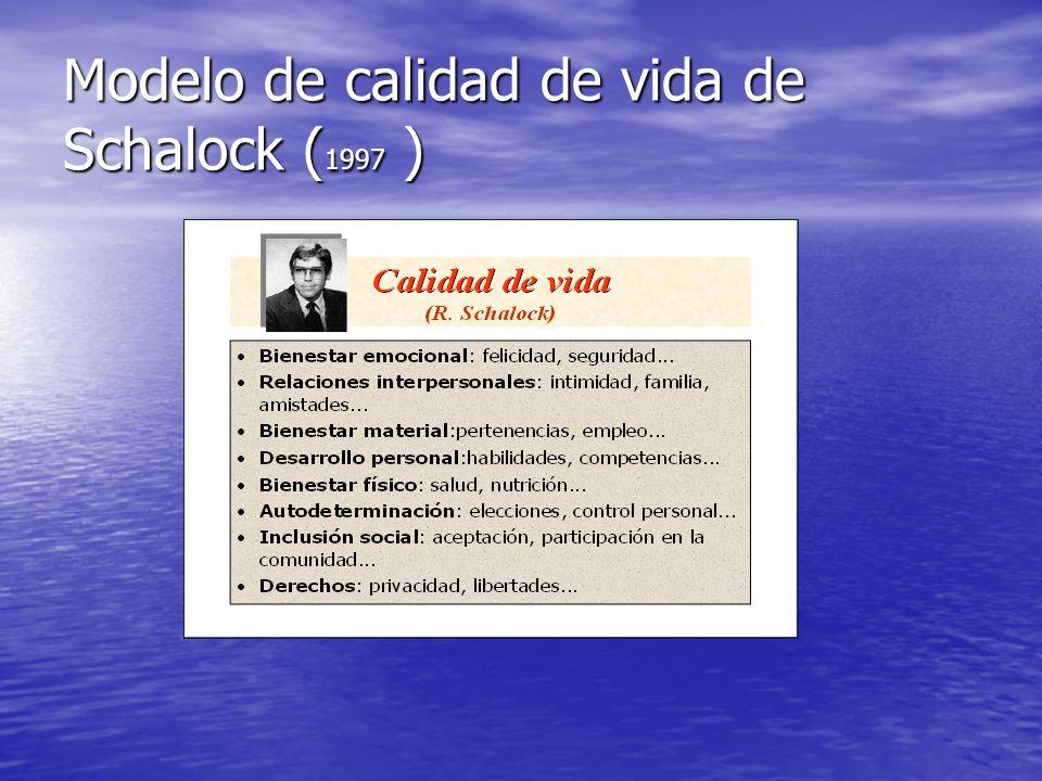Modelo de calidad de vida de Schalock (1997 )