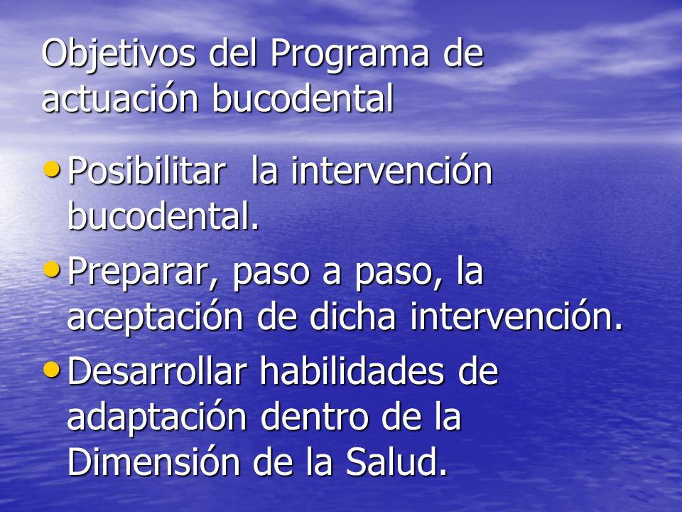 Objetivos del Programa de actuación bucodental