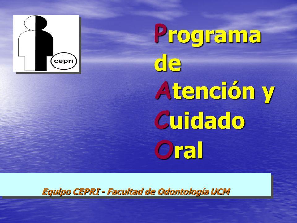 Programa de Atención y Cuidado Oral