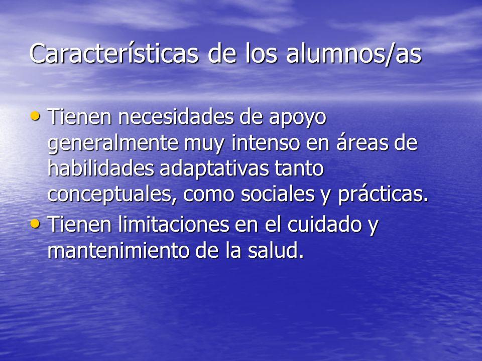 Características de los alumnos/as