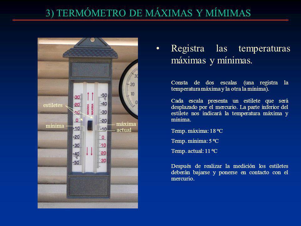 3) TERMÓMETRO DE MÁXIMAS Y MÍMIMAS