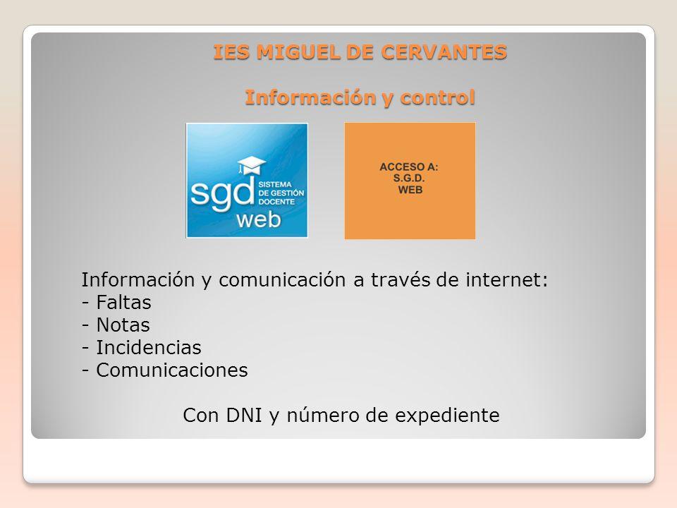 IES MIGUEL DE CERVANTES Información y control